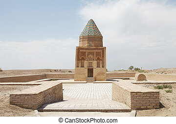 Turkmenistan - II Arslam Mausoleum at the Konye-Urgench,...