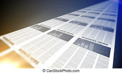 Business Newspapers Printing Loop.