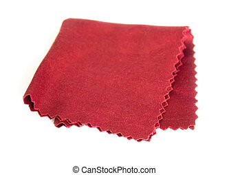 Serviette - Maroon folded cloth for glasses and lenses...