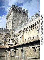 palais de papes - famous palais des papes in avignon