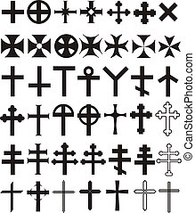 Cross set - Illustrations, historical, current, decorative...