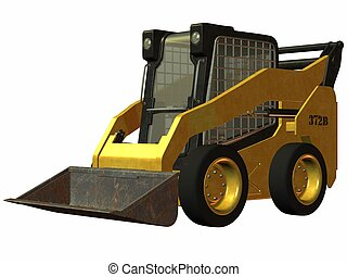 Skid Steer Loader - 3D Render of an Skid Steer Loader
