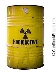 Barrel Of Nuclear Waste - Grungy Barrel Or Drum Of...