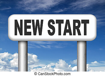 new start - new fresh start or chance back to the beginning...
