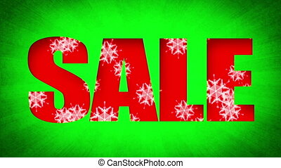 Sale Text Holidays Snow (Loop) - Sale text with snowflakes...