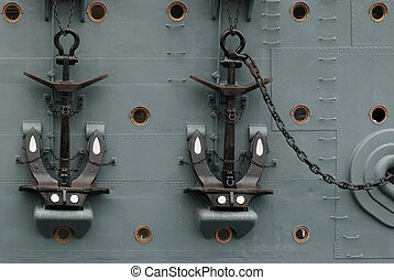 Anchors on quot;Auroraquot; - Anchor on board the legendary...