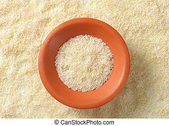 Jasmine rice - Bowl of uncooked Thai Jasmine rice