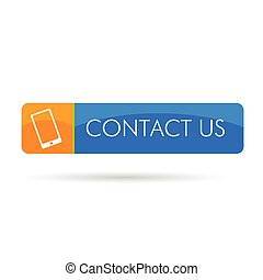 contact us icon color vector illustration on a white