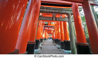 Fushimi Inari Taisha Shrine in Kyot - Kyoto, Japan - June...