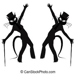 hepcat dancers  - hep cat dancers in silhouette