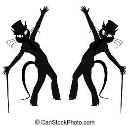hepcat dancers  - hep cat dancers in silhouette