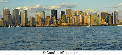manhattan panorama - Manhattan panorama, photo taken from...