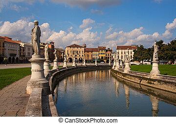 Prato della Valle, Padova - View of Prato della Valle...