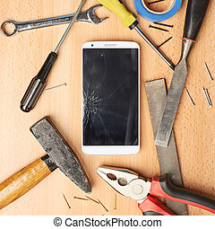 Repair mobile phone composition