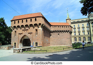 The Krakow Barbican a fortified outpost once connected to...
