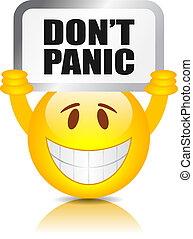 Do not panic sign - Don't panic sign isolated on white...