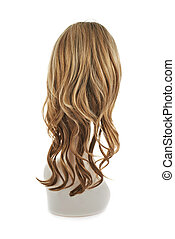Hair wig over the mannequin head - Wavy hair wig over the...
