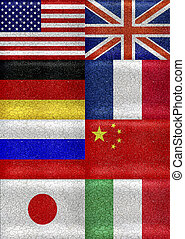 G8 Grunge Style Flags Pattern - G8 grunge style flags...