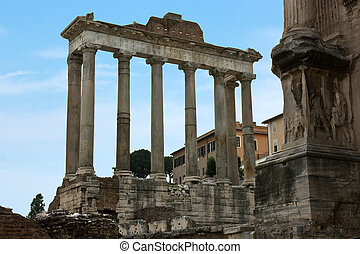 The ruins of the Roman forum. Italy