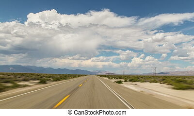 Nevada Driving Country 682 - Driving time lapse through...