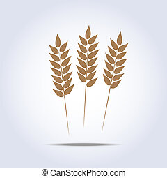 Wheat icon Vector illustration - Wheat icon on white...