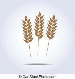 Wheat icon. Vector illustration - Wheat icon on white...
