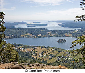 Aerial View of San Juan Islands Washington