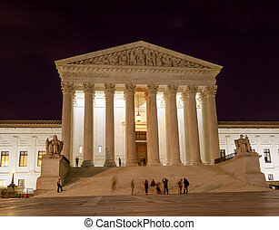 US Supreme Court Capitol Hill Night Stars Washington DC