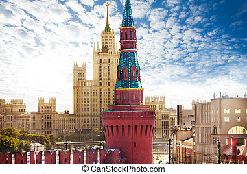 View of Kotelnicheskaya embankment from Kremlin and...