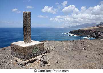 Rocky West Coast of Canary Island Fuerteventura, Spain