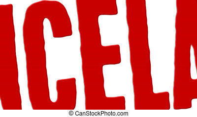 Red Rubber Stamp Cancelled Spanish - Red rubber stamp...