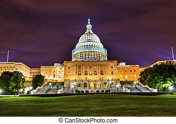 US Capitol South Side Construction Night Stars Washington DC...