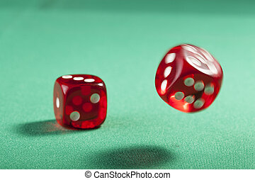 Red Dice on Green