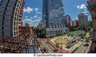 PDX Abv Downtown Directors Park 603 - Time lapse of downtown...