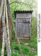 Old outhouse - Old wooden outhouse in the country