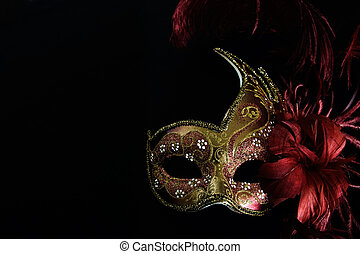 Venetian Mask - Venetian mask use on the masquerade