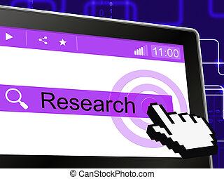 Online Research Means World Wide Web And Analyse - Online...