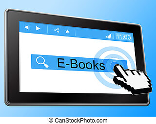 E Books Indicates World Wide Web And Website - E Books...