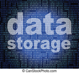 Data Storage Means Hard Drive And Bytes - Data Storage...