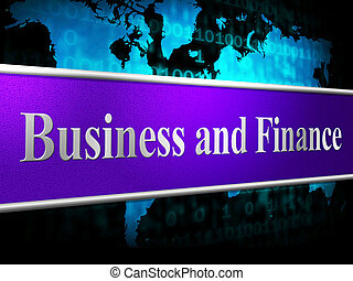 Finance Business Shows Investment Company And Financial
