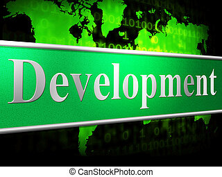 Develop Development Shows Evolution Forming And Enlargement...