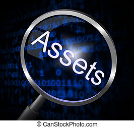Assets Magnifier Indicates Valuables Searching And Search -...