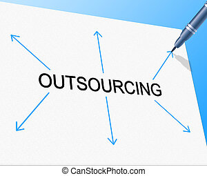 Outsource Outsourcing Represents Independent Contractor And Contracting