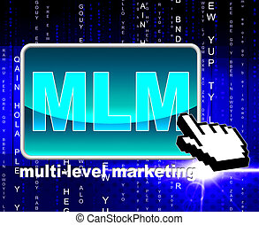 Multi Level Marketing Shows World Wide Web And Multilevel -...