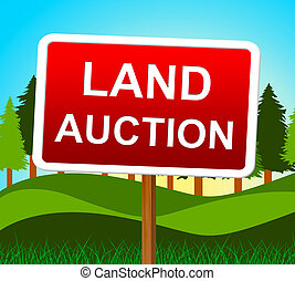 Land Auction Shows Winning Bid And Acres - Land Auction...