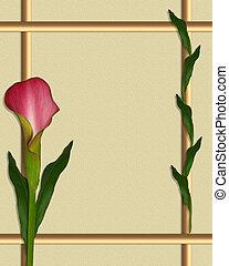 Calla Lily border frame - artistic illustration calla lily...