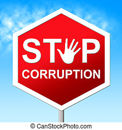Stop Corruption Indicates Warning Sign And Bribery -...
