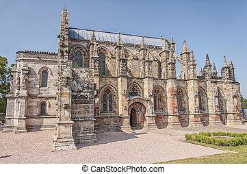 Rosslyn Chapel in Scotland - ROSSLYN, SCOTLAND - JULY 10:...