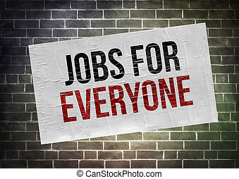 Jobs for everyone - poster concept