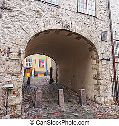 Swedens Gate Riga - RIGA, LATVIA - OCTOBER 27, 2012:...